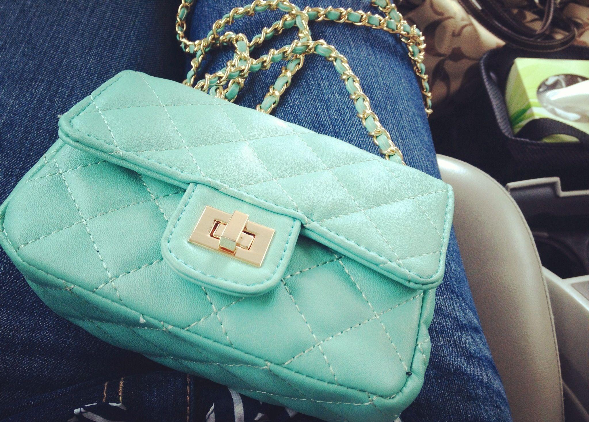 My new purse #mint #purse #chain