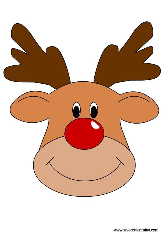 Sagoma Renna 2 Natale Christmas Reindeer E Christmas Crafts