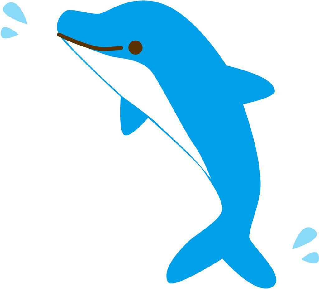 フリーイラスト ベクトルデータ Ai 動物 哺乳類 海豚イルカ