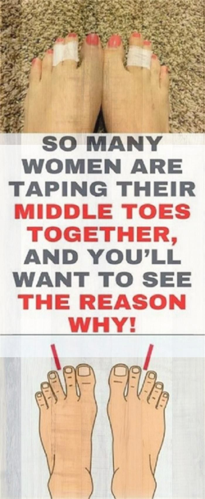 So Many Women Are Taping Their Middle Toes Together, And You�ll Want To See The Reason Why! ?ost of...