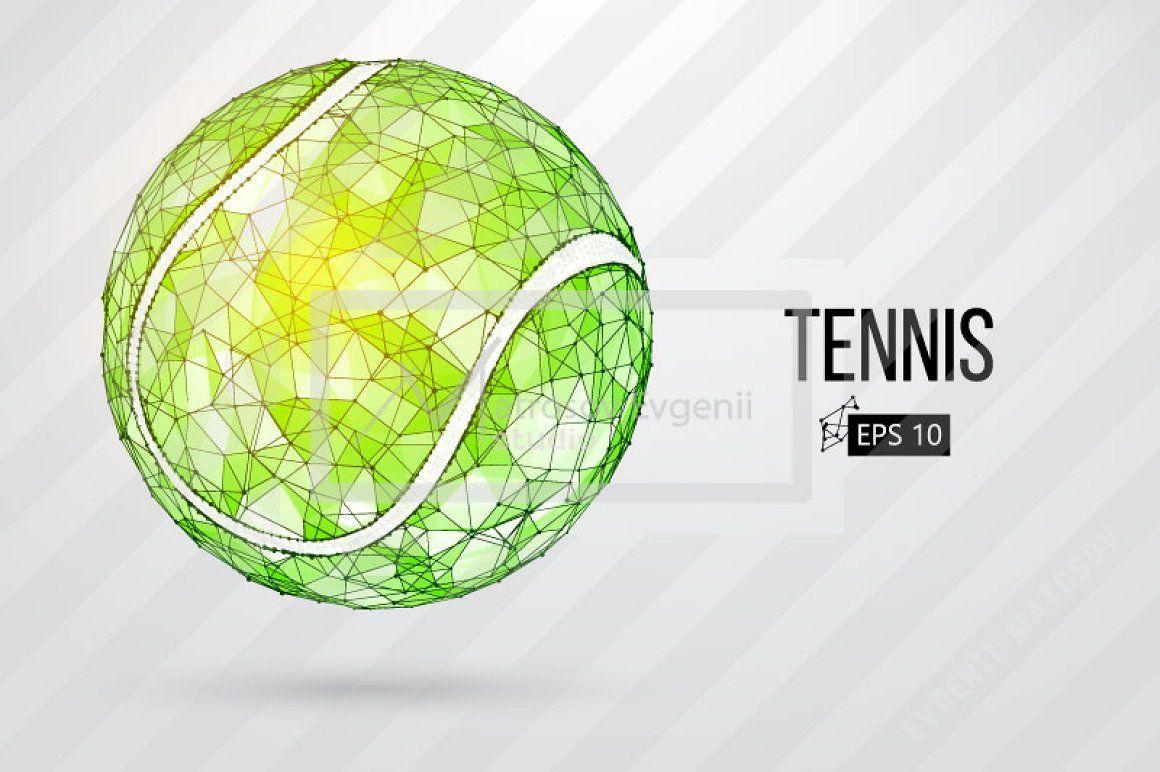Silhouette Of Tennis Balls Set Tennis Balls Tennis Ball Drawing