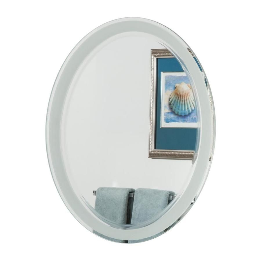 Decor Wonderland 23 6 In Silver Oval Frameless Bathroom Mirror Lowes Com In 2021 Bathroom Mirror Modern Bathroom Mirrors Mirror [ 900 x 900 Pixel ]