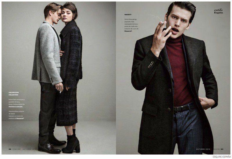 Couples Fashions: Robert Laby, OShea Robertson + More for Esquire España image Esquire Espana Couples Fashions 004 800x549