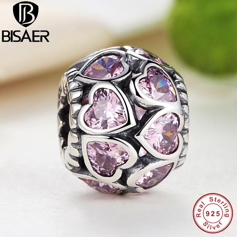 Solid 925 Sterling Silver Colored Pearl Charm Bead Purple