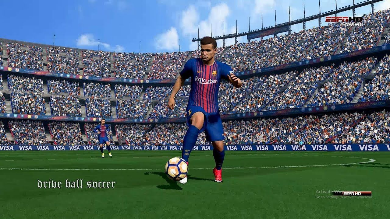 philippe coutinho debut in barcelona pes 2017 hd fc barcelona