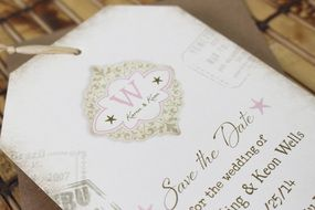 Luggage Tag Flat Card Save the Date