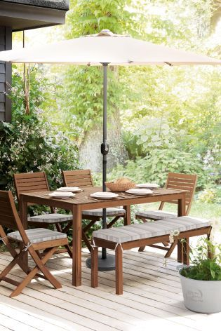 Wow your guests this summer with our Seville table and chair set.