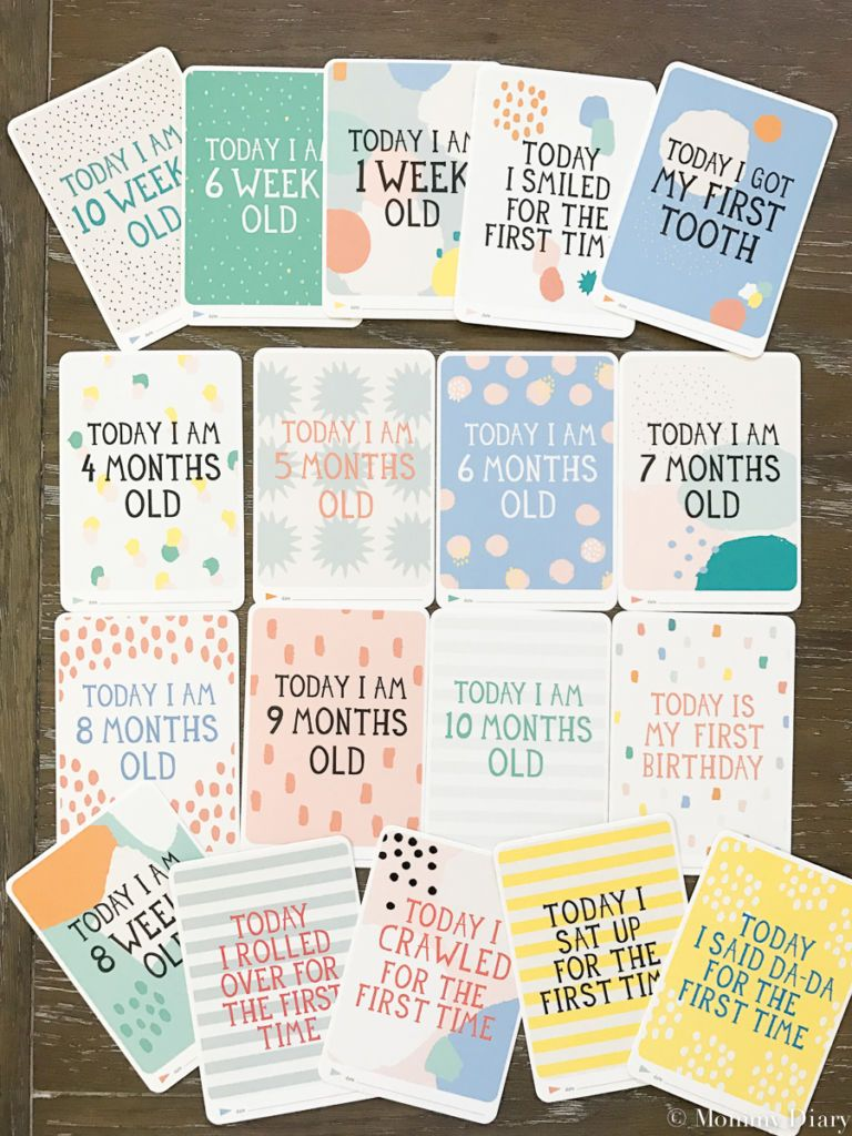 Capturing Baby S Growth With Milestone Baby Cards Baby Milestone Cards Milestone Cards Baby Milestones
