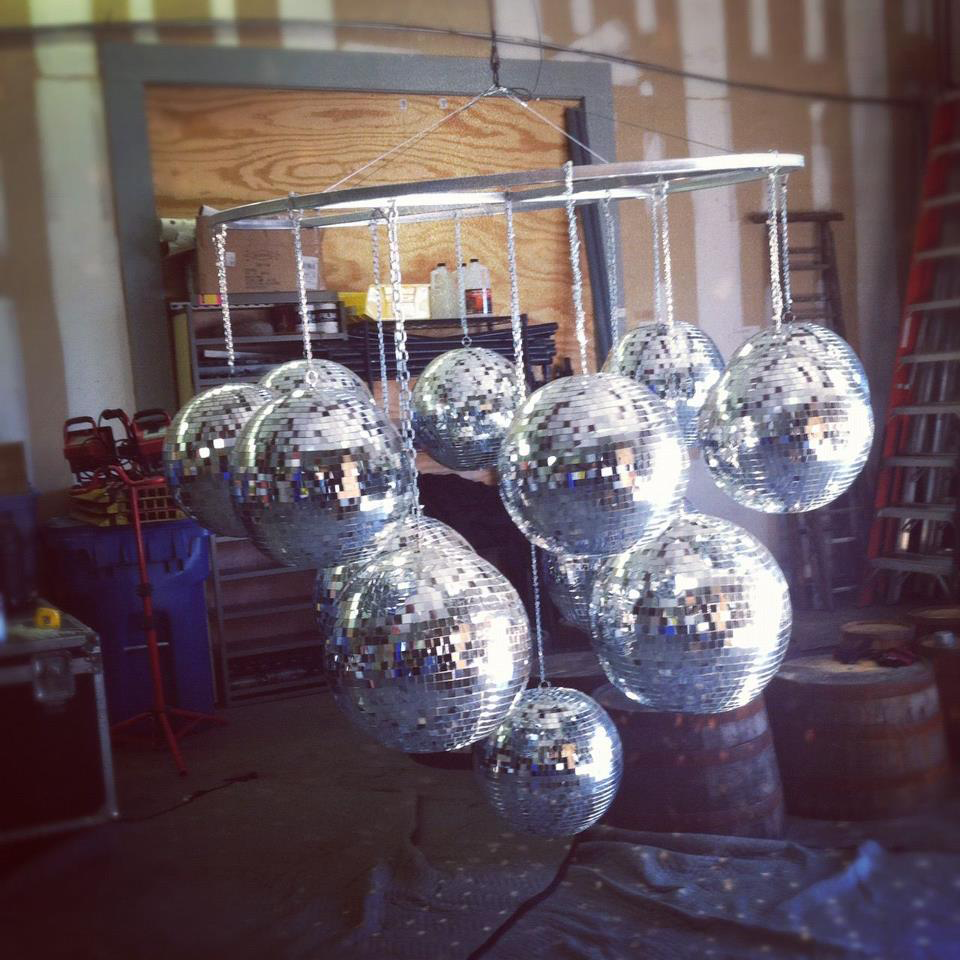 Wouldnt this mirror ball chandelier look great under the dance wouldnt this mirror ball chandelier look great under the dance floor at arubaitofo Gallery