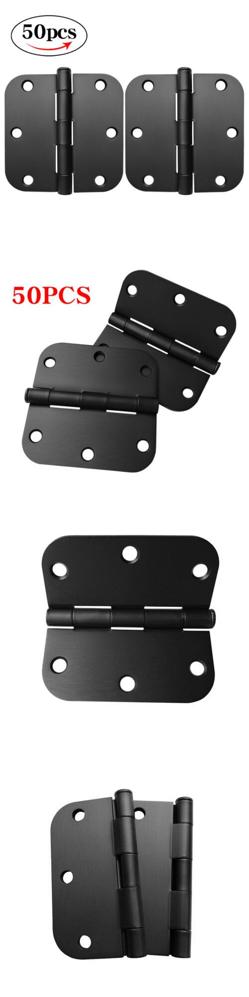 Door Hinges 66739 50pc Black 3 5 3 5 Round Corner Door Hinge Removable Pin Screws 5 8 Radius Buy It Now Only 45 98 On Ebay Corner Door Interior Door Hinges Door Hinges