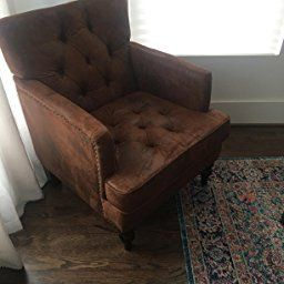 Customer Reviews Great Deal Furniture Medford Brown Fabric Club Chair