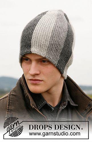 0e279086dae Hat worked sideways - FREE PATTERN via Ravelry warm easy knit mens hat knit  in garter st using DK yarn