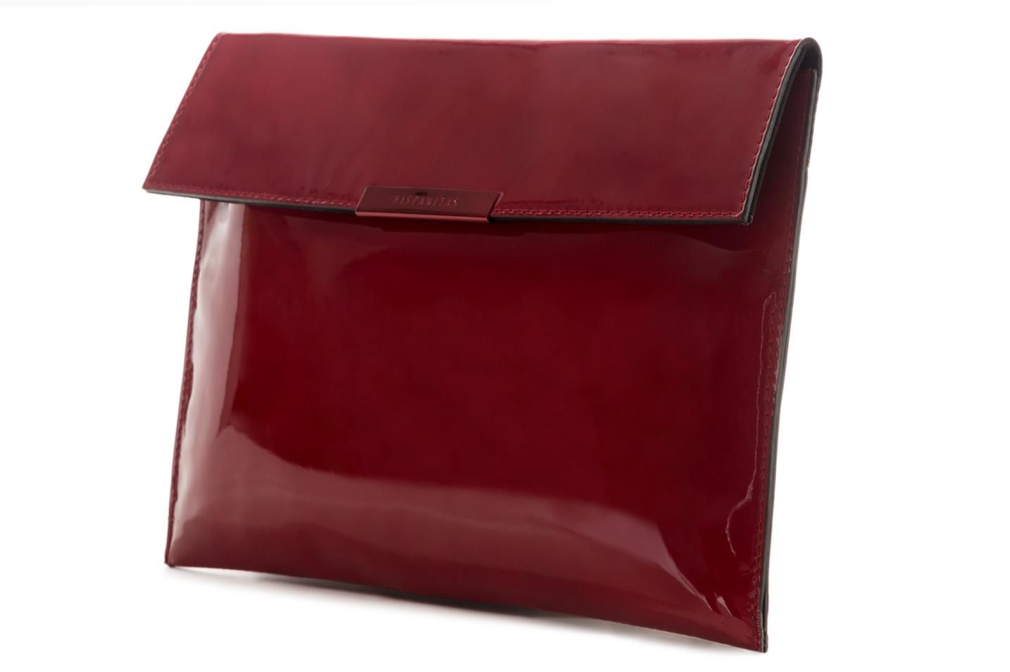 Red leather clutch by Hispanitas with ref. MBI52202