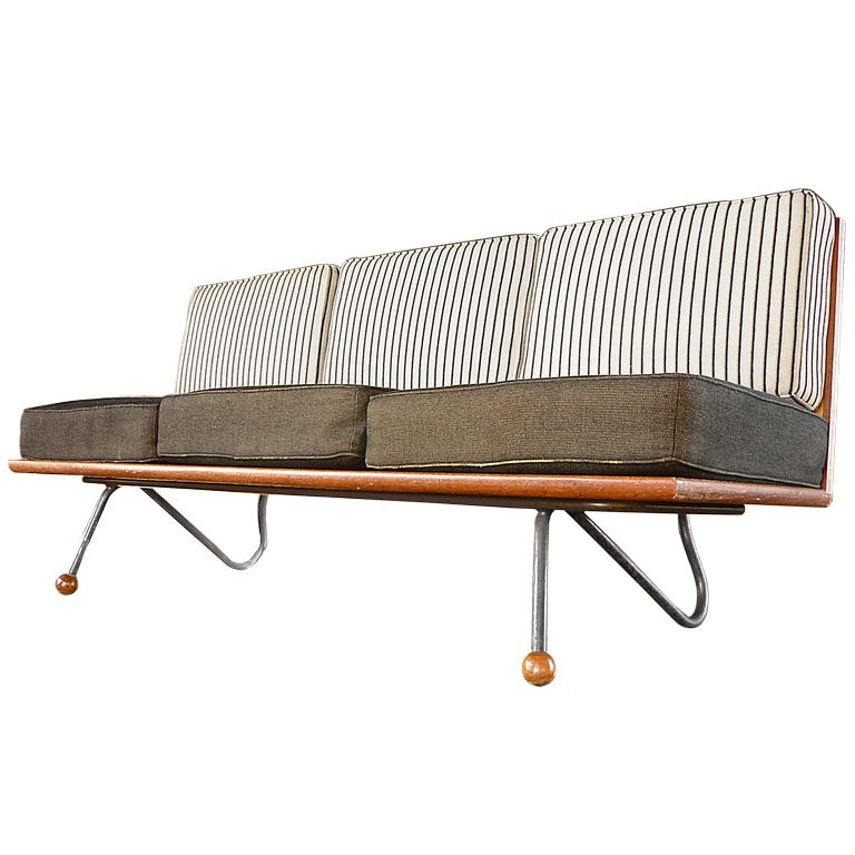 Anonymous Oak And Tubular Steel Sofa C1946 Sofa Design Sofa