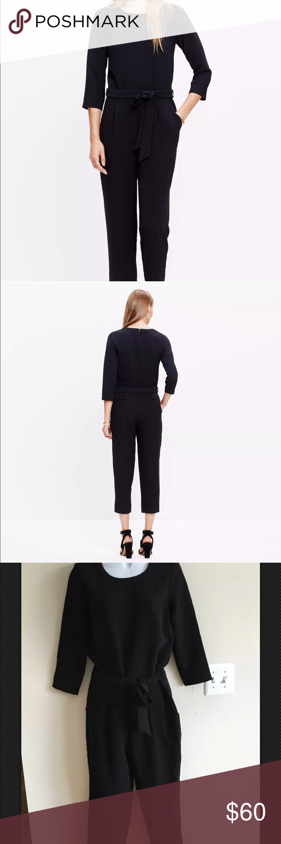 Madewell Black Sloan Jumpsuit NWT E4197 $138 Madewell Sloan Jumpsuit brand new with tags.Style number is E4197, brand new with tags $138,color is black,sizes 6,2,0 Madewell Other