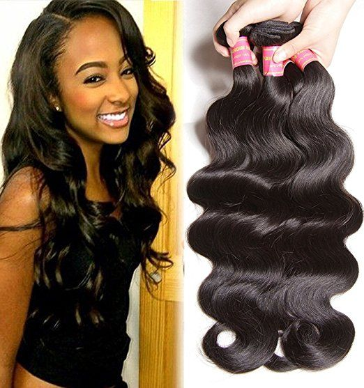 Beauty Forever Hair Brazilian Virgin Body Wave Hair 3 Bundles 16 18 20inch 100% Unprocessed Virgin Human Hair Weft Extensions Natural Color(100+/-5g)/pc