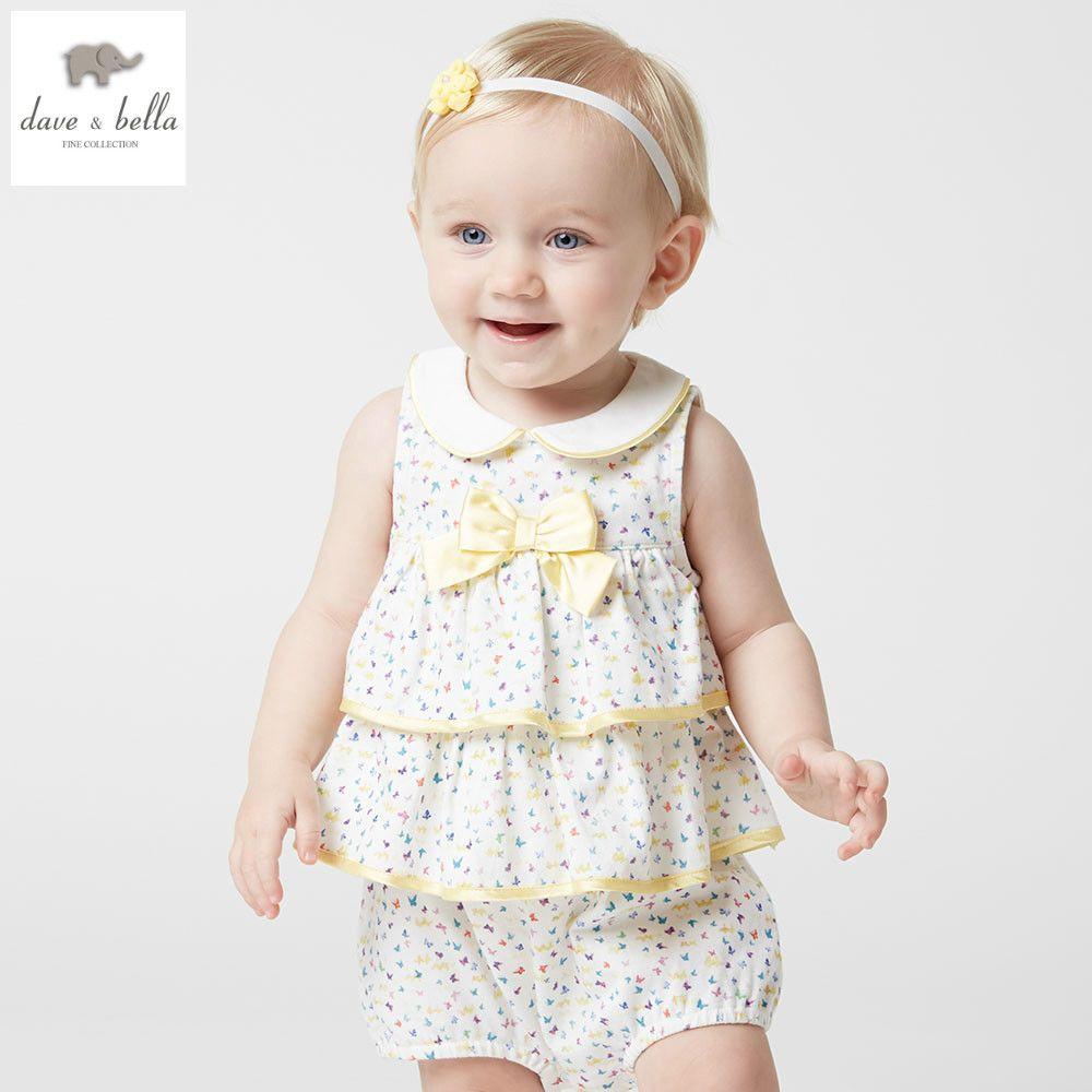 Db dave bella summer new born baby girls cotton butterfly