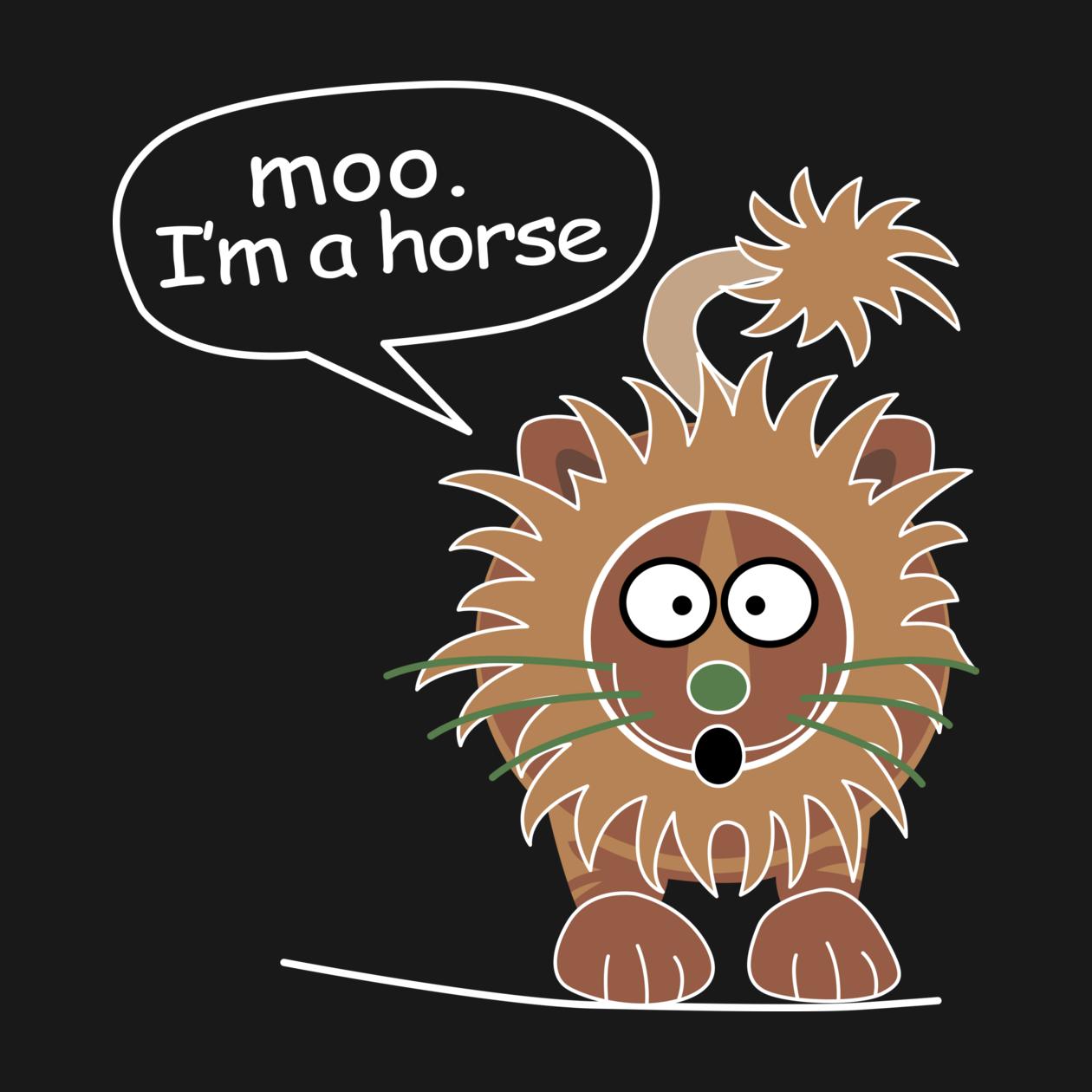 Moo I M A Horse Tee