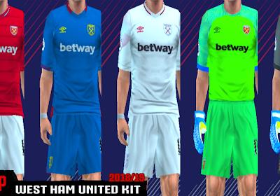 99ab872fa6e West Ham United 18 19 Kits - PES PSP (PPSSPP)