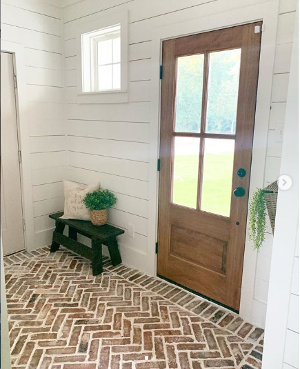 Raleigh Used Hc Ms With Images Mudroom Flooring Brick Tile Floor Brick Flooring