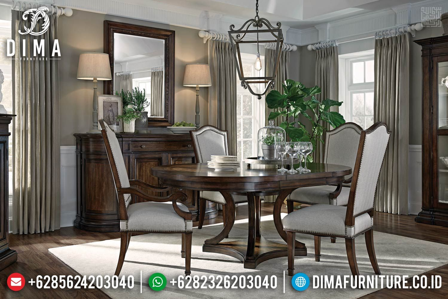 New Minimalis Furniture Jepara Set Meja Makan Jati Rahmazie Df