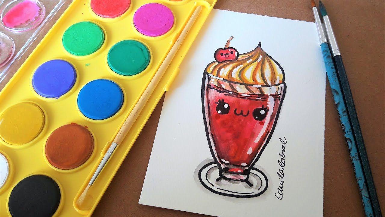 Como Desenhar Taça De Milkshake Kawaii Cute Kawaii