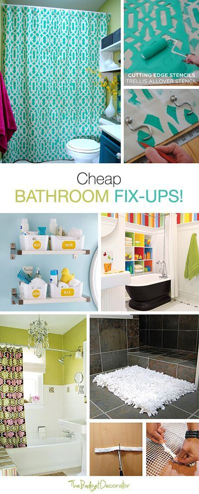Cheap Bathroom Fix Ups For Any Family Cheap Bathrooms Diy Home Improvement Diy Bathroom
