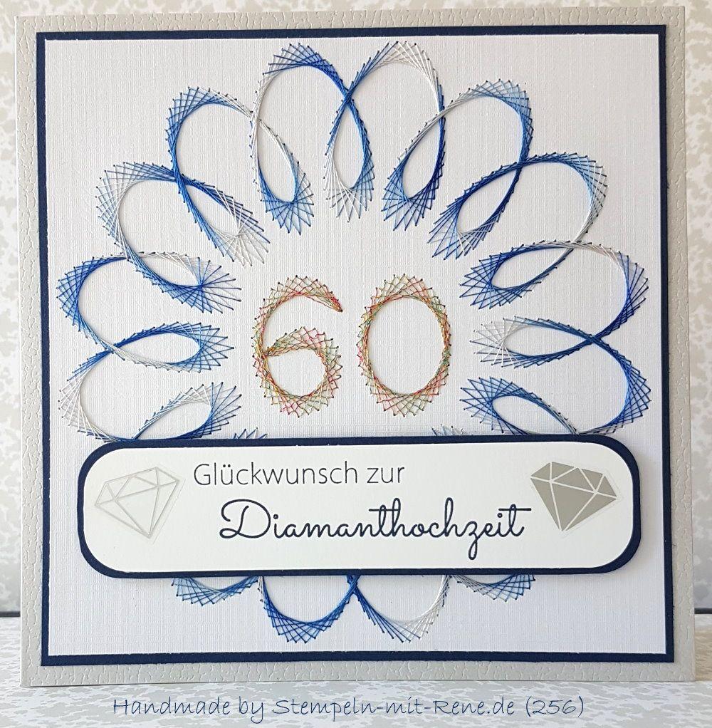 Gluckwunschkarte Zur Diamentenen Hochzeit Meiner Eltern Fonalgrafika