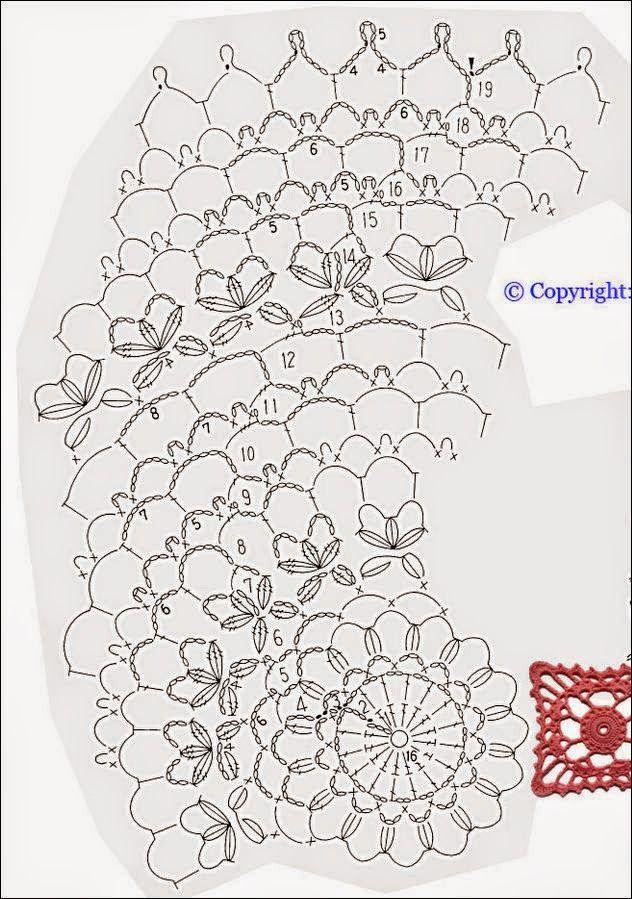 Patrón de carpeta ganchillo de forma redonda | Ganchillo | Pinterest ...