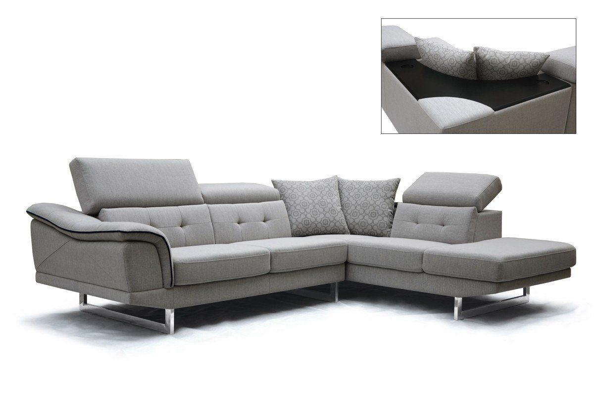 Divani Casa Gaviota Modern Grey Fabric Sectional Sofa in 2018 | VIG ...