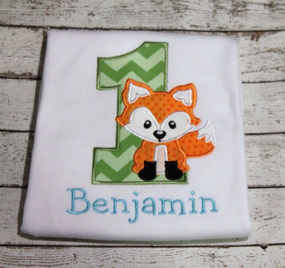 Fox Birthday Shirt, Woodland Birthday Party, Personalize with your child's age and favorite colors on Etsy, $24.00