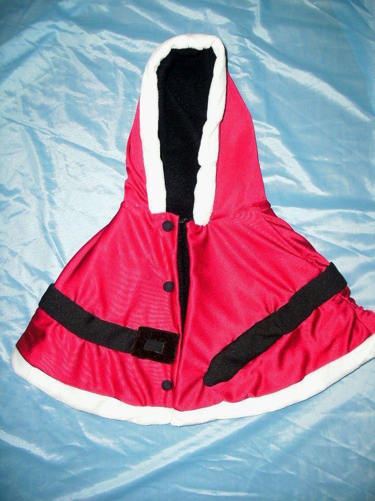 Girls Hooded Santa Shawl/Coat Toddler One Size #Handmade #Coat #Holiday