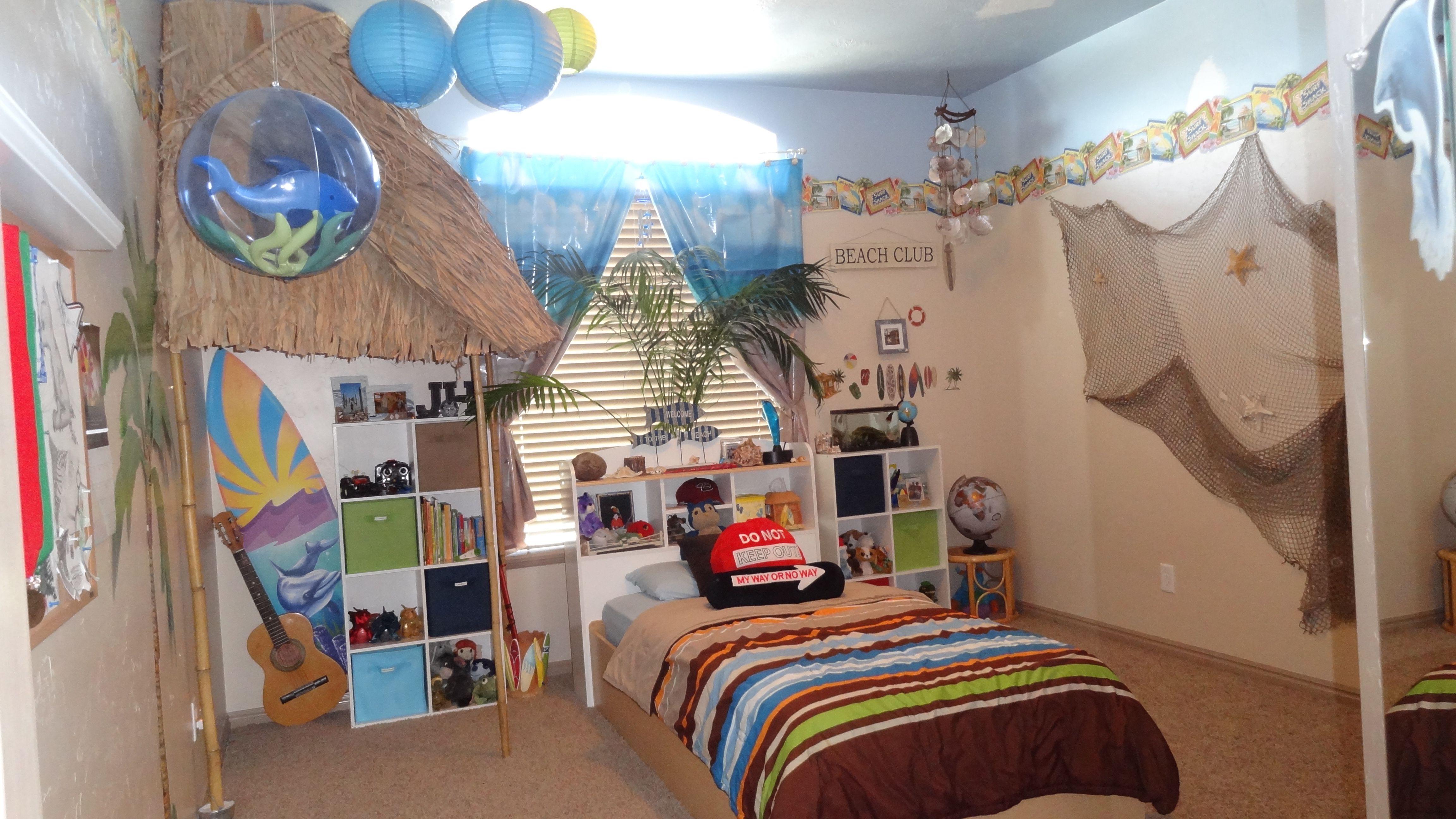 Beach themed kids room diy home design inspiration - Beach themed room decor ...