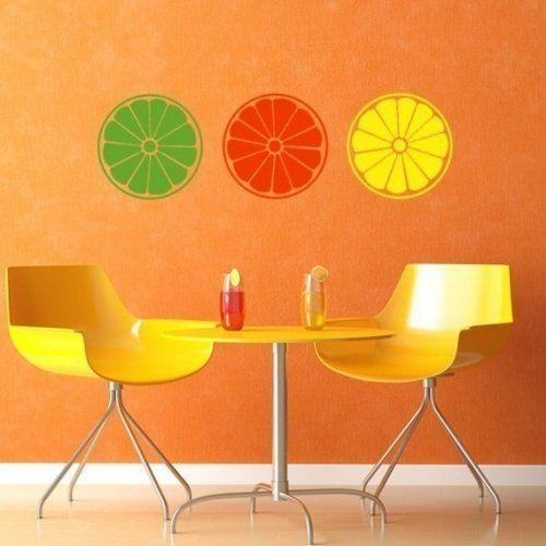 Vinyl Decals  Summer Citrus Slices   Offthewallexpressions - Housewares on ArtFire