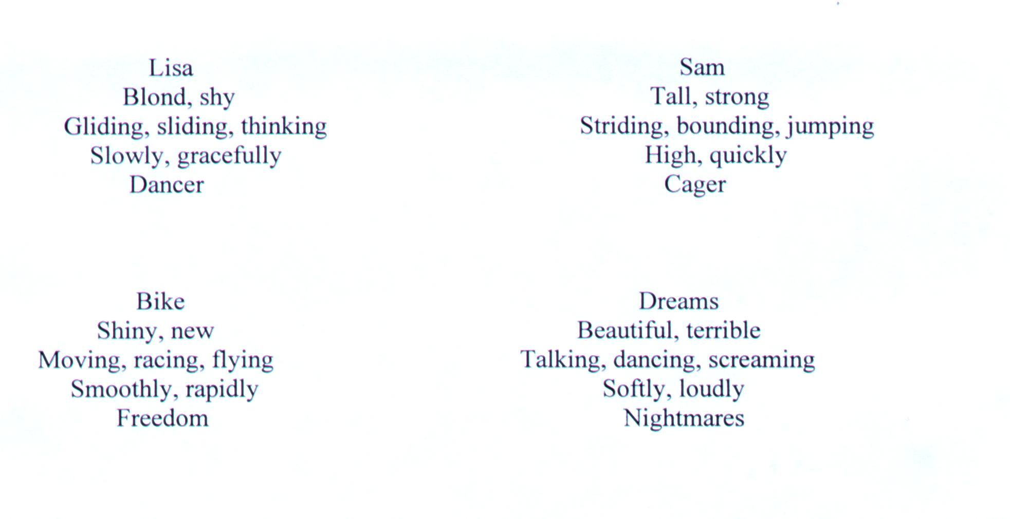 Examples Of Cinquain Poems 3