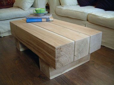 Made To Order Coffee Table Hand Crafted From Green Oak.