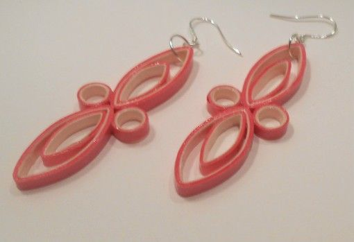 Pink+and+Baby+Pink+Medium+Paper+Earrings+2E+-+$10.00