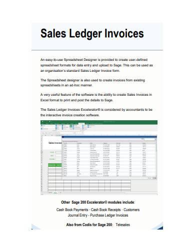 Sales Ledger Coordinator Sample Templates Sale Sample