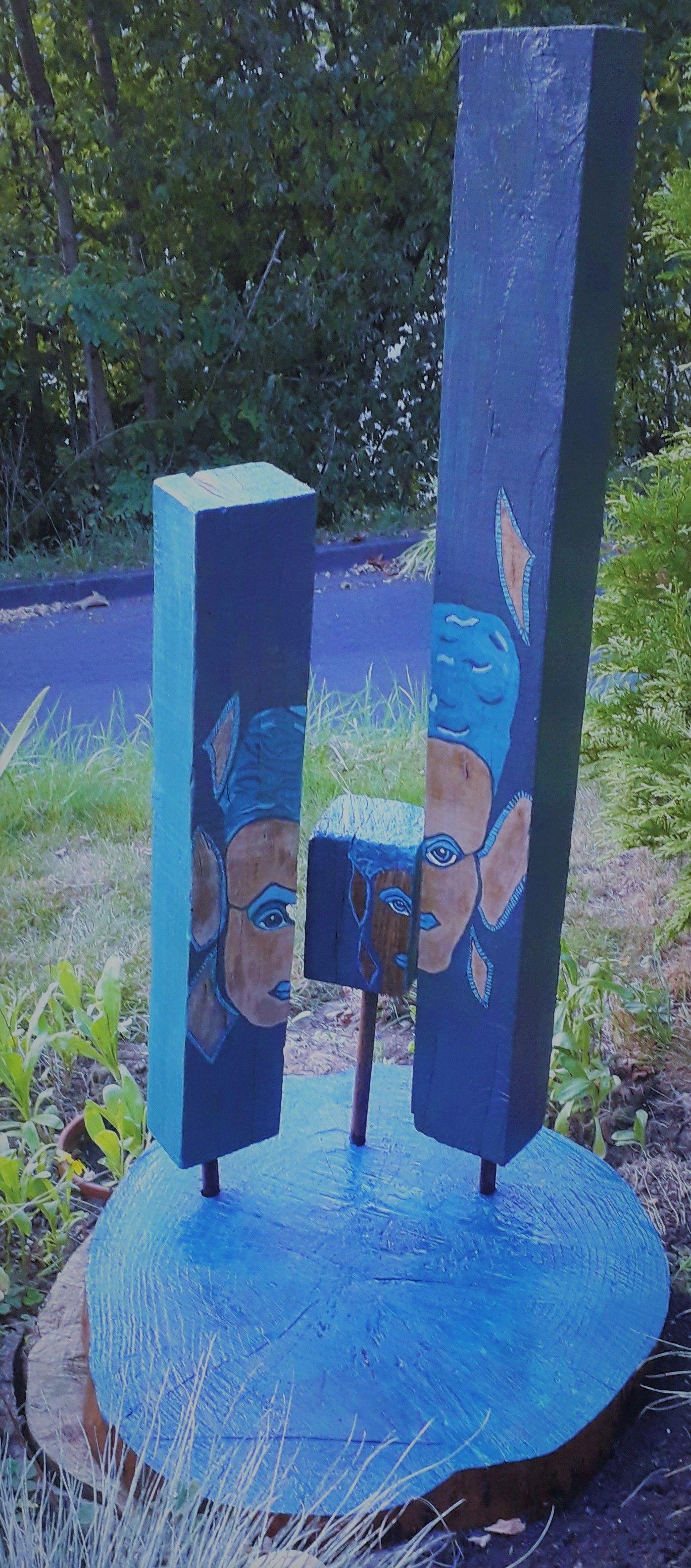 #Bemaltes Holz im Garten #DIY