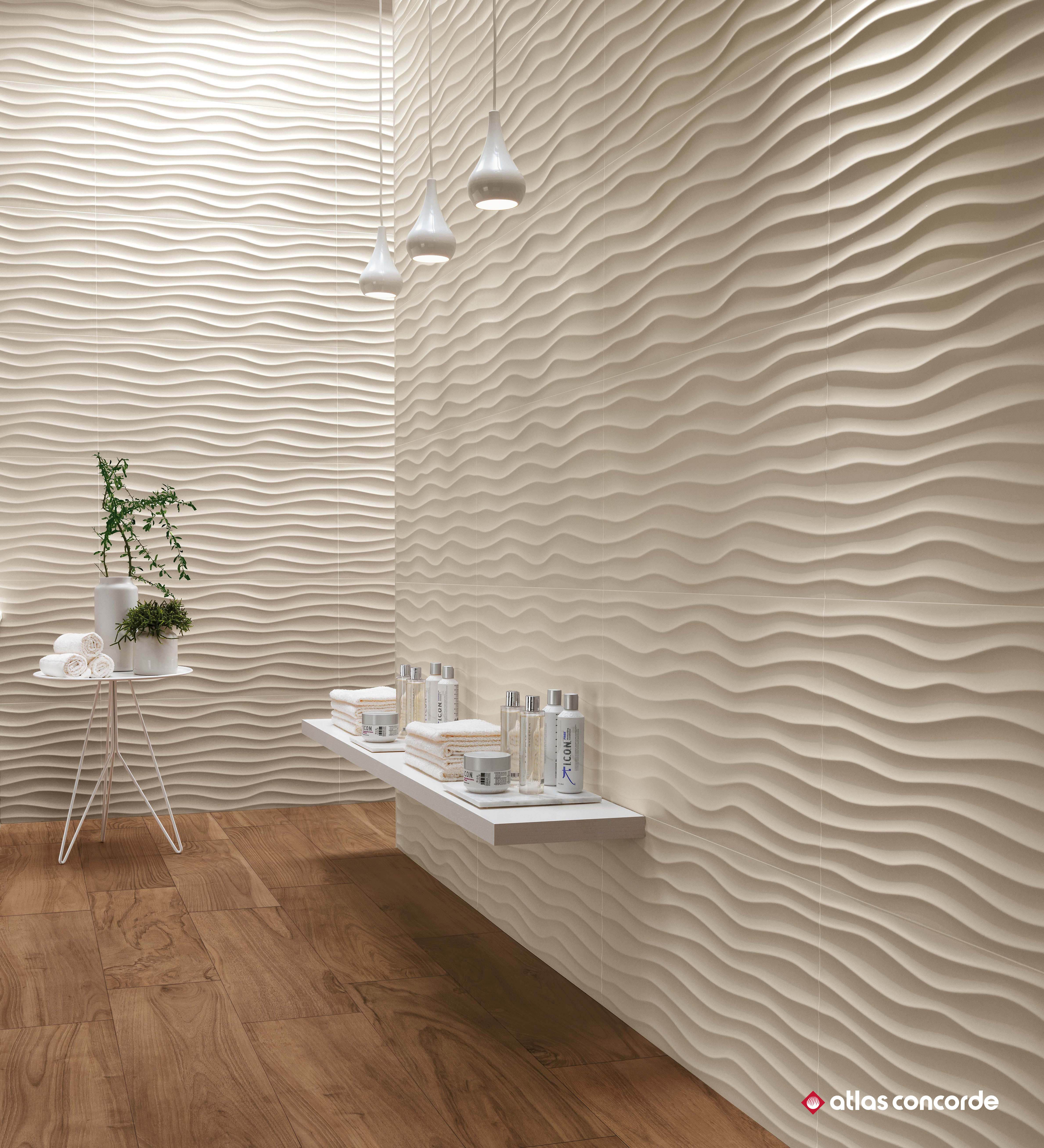 Sculptural 3d Wall Decoration For Spa And Bathroom Design Made In Italy Superior Wall Tiles For Interior Wall Cladding Modern Bathroom Tile Bathroom Interior