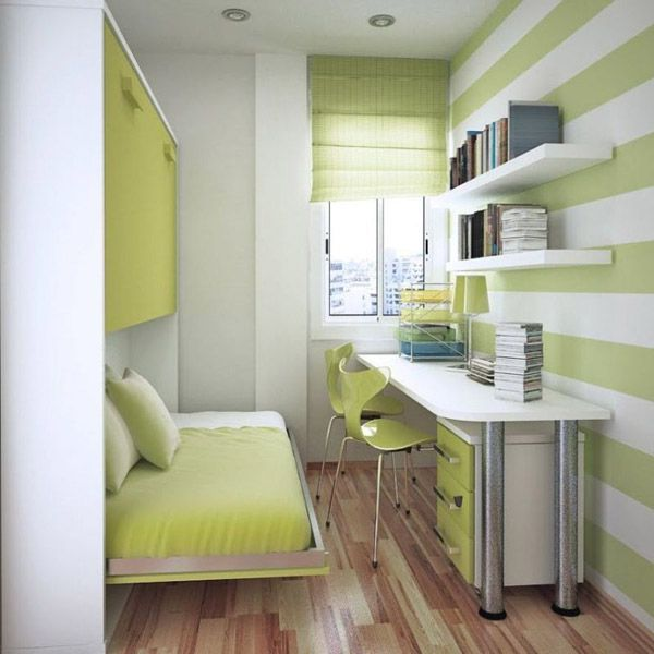 Small Bedroom Decorating Ideas with Green Color