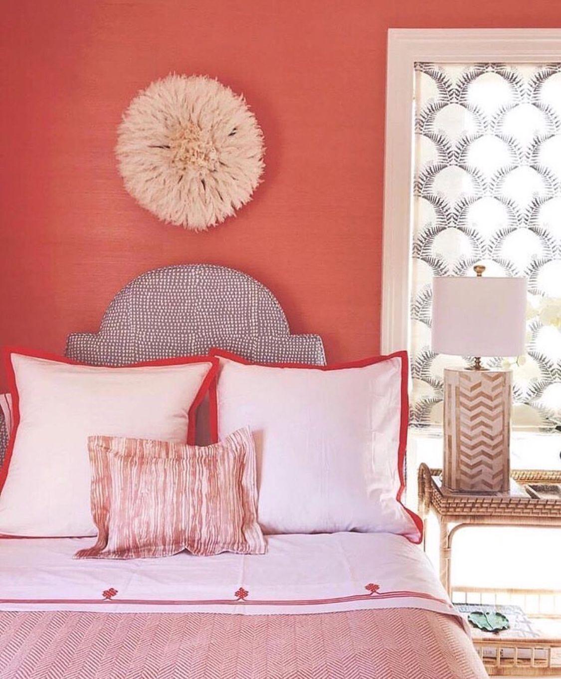 Coral Bedroom, Coral Walls Bedroom, Coral Walls