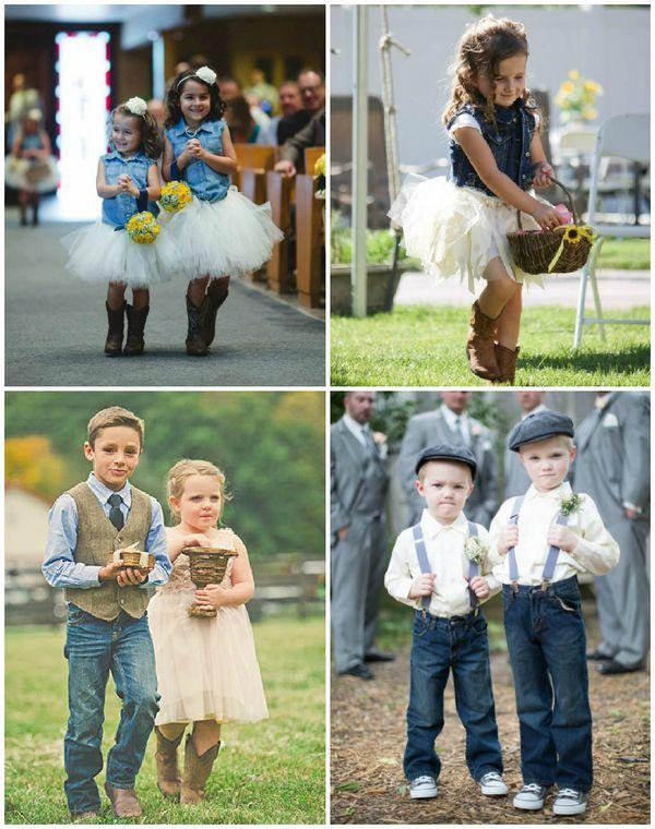 les enfants du cort ge portent du jeans dans leur tenue de mariage id es mariage pinterest. Black Bedroom Furniture Sets. Home Design Ideas