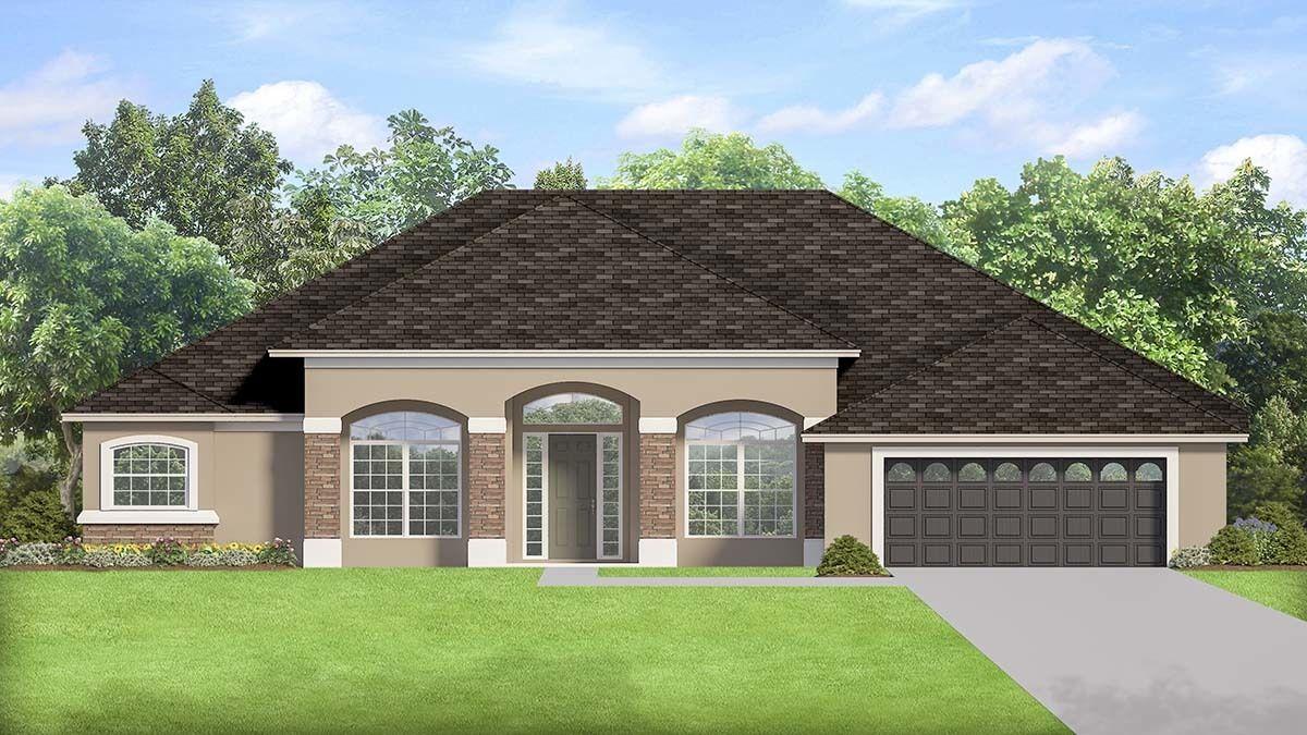 Elegant Southern House Plan   House plans, Architectural ...
