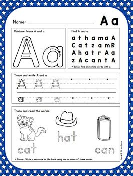alphabet writing sheets to teach proper formation and reinforce