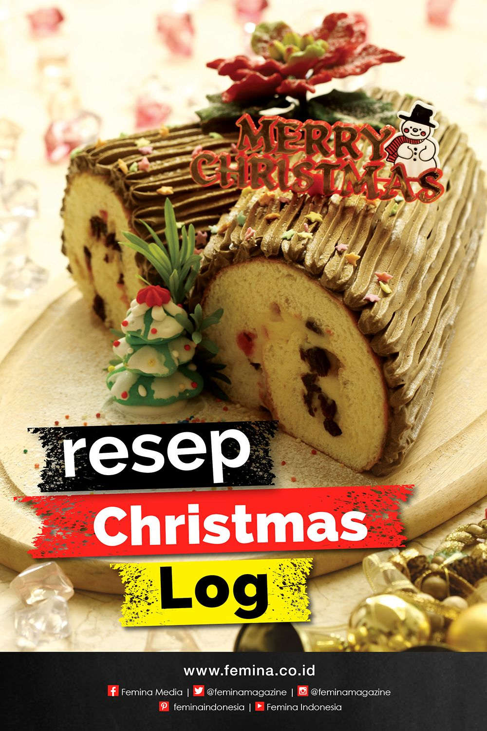 Resep Christmas Log Natal Resep