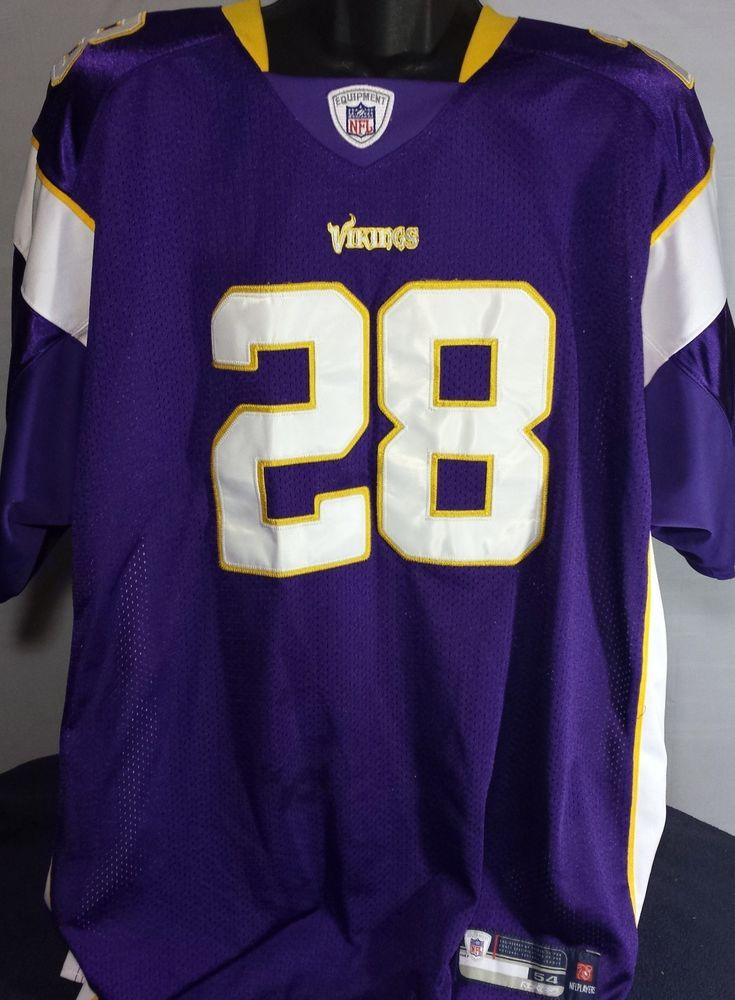 more photos ba0f6 a3f0d Minnesota Vikings Adrian Peterson Mens Size 54 Reebok NFL ...