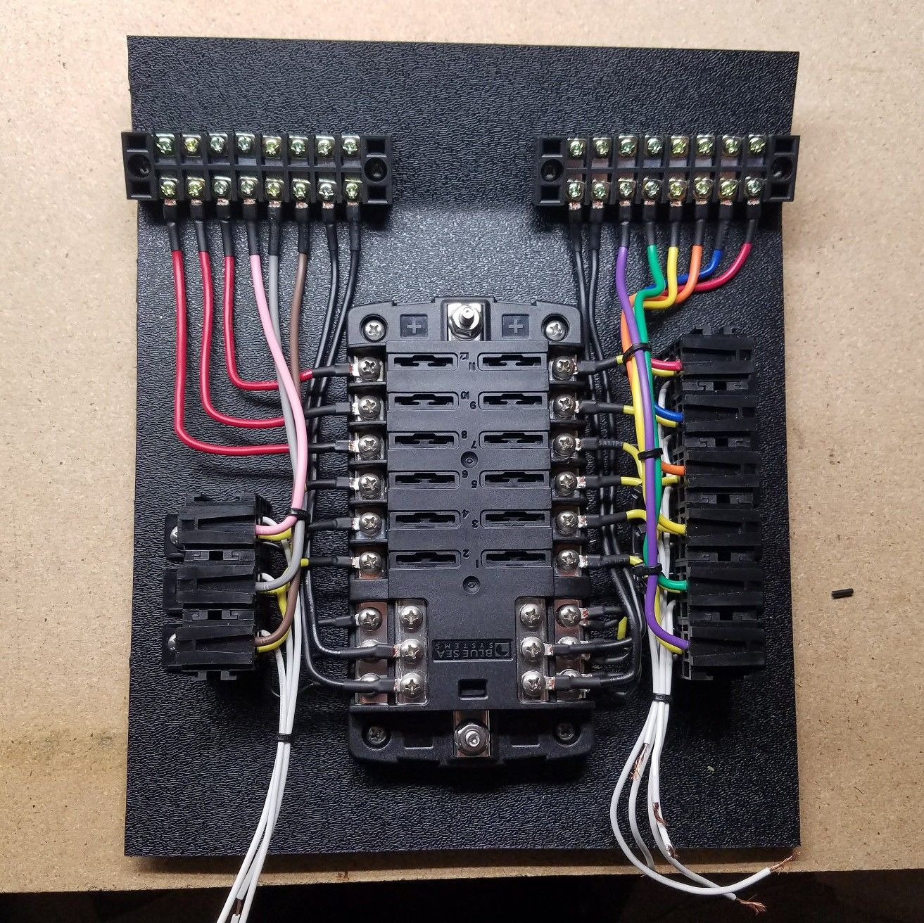 Custom Automotive Fuse Box : Auxiliary fuse and relay panel for my rzr wires