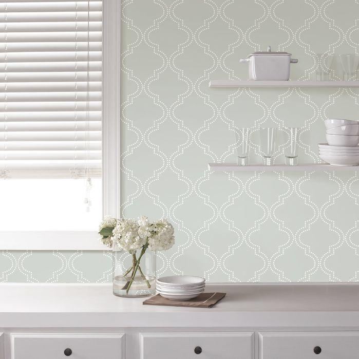 Gianna Removable Wallpaper Nuwallpaper Trellis Wallpaper Quatrefoil Wallpaper