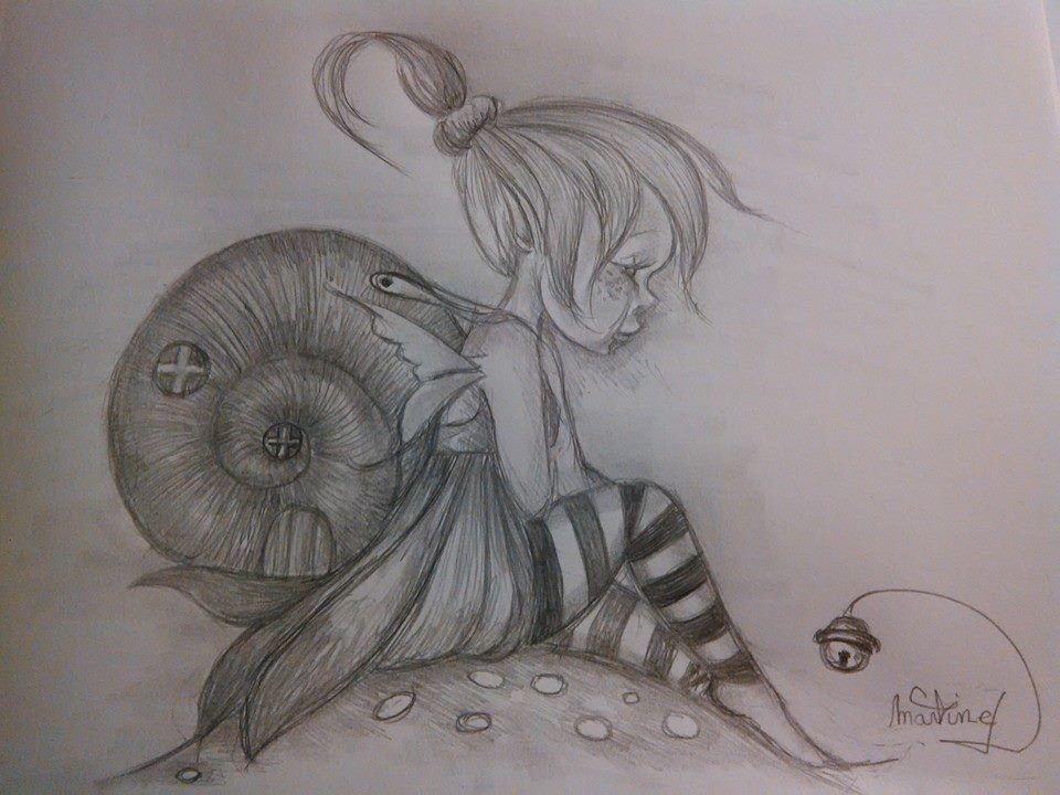 Petite f e follette et son fardeau dessins par mes tronches flaurifolles - Dessin elfes et fees ...